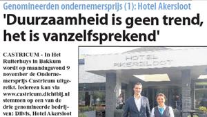 """Hotel Akersloot – """"Duurzaamheid is geen trend, het is vanzelfsprekend"""""""