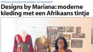 Moderne kleding met een Afrikaans tintje